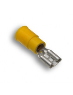 AL-FR4C250-N-C Advanced Cable Ties Spade Terminals Spade Terminals Yellow Nylon Female Disconnect 100
