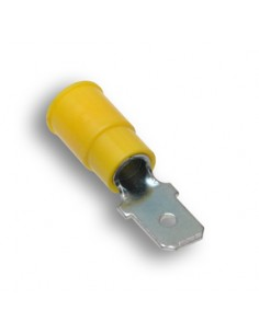AL-MT4C250-N-C Advanced Cable Ties Spade Terminals Spade Terminals Yellow Nylon Male Disconnect 100