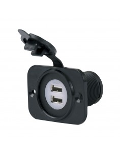 12VDUSB-B Marinco USB Power Outlets USB Power Outlets 12-24V Dual USB with Mounting Plate-Bulk  CLICK HERE FOR DATASHEET