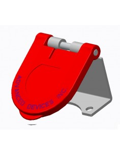 CL40WTC-L-125-C Marinco Power Products Cam Lock Covers Power Inlet Accessories, Cam Lock Covers Snap Back Cam Cover Surface Moun