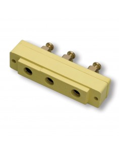 106FR-H Marinco Power Products Stage Pin Connectors Stage Pin Connectors Bates Stage Pin (100A / 250V) Female Panel Mount Yellow