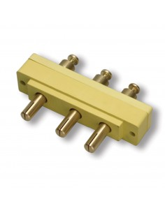 106MR-H Marinco Power Products Stage Pin Connectors Stage Pin Connectors Bates Stage Pin (100A / 250V) Male Panel Mount  Yellow