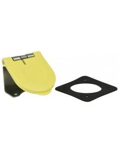 CL40WTC-L-062-H Marinco Power Products Cam Lock Covers Power Inlet Accessories, Cam Lock Covers Snap Back Cam Cover Through Moun