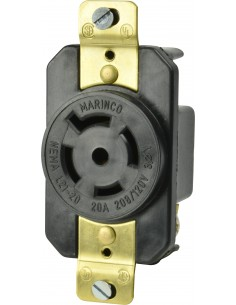 2021R Marinco Power Products 15A to 50A Plugs and Receptacles Products, 15A to 50A Plugs and Receptacles 20A 120/208V 3 Y RECEPT