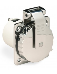 303SSEL-B Marinco 15A to 50A Plugs and Receptacles 15A to 50A Plugs and Receptacles Inlet, 30A 125V, Stainless Steel