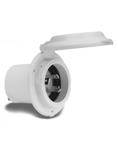 15A to 50A Plugs and ReceptaclesMarinco INLET, 16A 220V CONTOURED EXP. W/ SS TRIM 304EL-BX, connectors